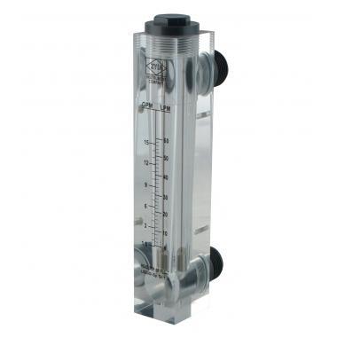 """Ротаметр панельного типа GPM 1,5-15 галлон/мин LPM 6-60 л/мин (1"""")"""