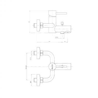 Смеситель для ванны Bianchi Mini VSCMIN2004SKCRM