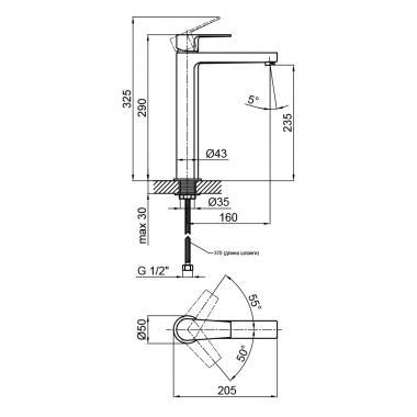 Смеситель для раковины Qtap Stenava 9045102FC