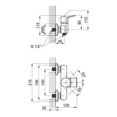 Смеситель для душа Qtap Javornik 4014107C