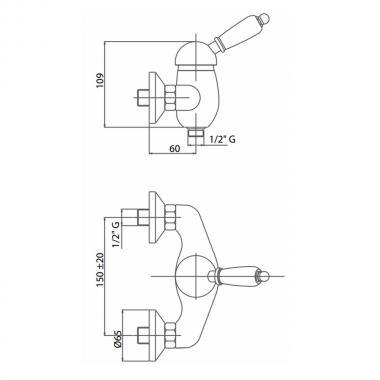 Смеситель для душа Bianchi Elite ESDELT200501100CRM